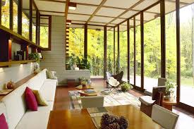 Frank Lloyd Wright Falling Water Interior Flw Falling Waters Corner Windows With Flw Chair Pinspiration