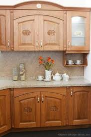Traditional Medium WoodGolden Kitchen Cabinets From Kitchen - Medium brown kitchen cabinets