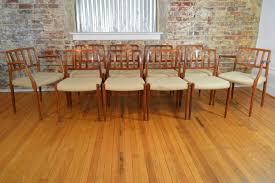 Rosewood Laminate Flooring Set Of Ten Model 66 83 J L Mollers Danish Rosewood Dining Chairs