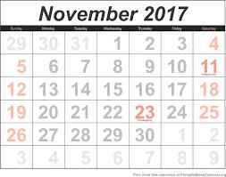 printable calendar page november 2017 free calendar november 2017 printable blank calendar org