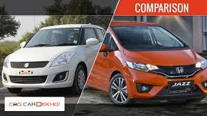 honda car comparison 2015 honda jazz vs maruti suzuki comparison