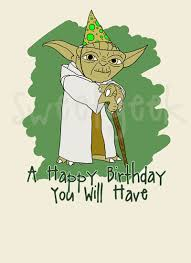 yoda birthday card 69 best star trek star wars cards images on