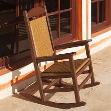 Polywood Patio Furniture by Polywood Presidential Rocker With Woven Seat And Back Rocker