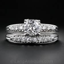 diamond wedding ring sets vintage engagement and wedding ring sets lang antiques