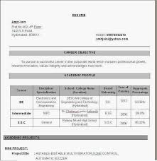 resume formats for engineers resume templates