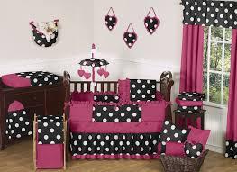 Jojo Designs Crib Bedding Sets Pink Black White Polka Dot Baby Bedding Set 9pc Nursery