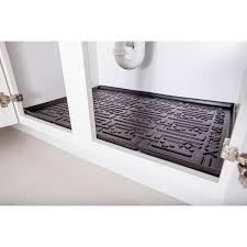 kitchen sink cabinet mats xtreme mats black kitchen depth sink cabinet mat drip