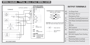 goodman furnace thermostat wiring diagram circuit and schematics