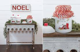 enamel kitchen canisters holiday canister set christmas dishes kitchen decor