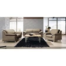 canapé tweed ensemble de salon 3 pièces en tissu aspect tweed fauteuil canapé