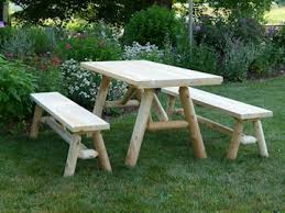 picnic table with separate benches cedar log picnic table picnic table with separate benches