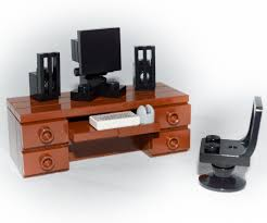 Ebay Desktop Computer Bundles by Lego Furniture Computer Desk Set W Keyboard Monitor Mouse