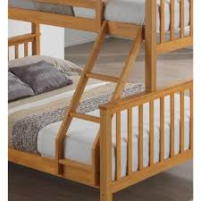 Three Sleeper Bunk Bed Artisan Triple Three Sleeper Bunk Bed Color White And Beech 4ft