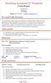 cv templates for teaching assistants teacher assistant resume exle resume sle
