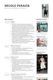 Website Resume Examples by Blogger Resume Samples Visualcv Resume Samples Database