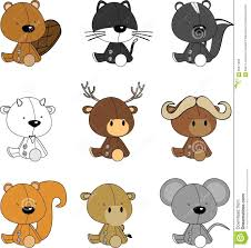 cute animated baby animals