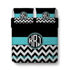 Black And White Chevron Bedding Softball Custom Bedding Chevron And From Pamperyourstyle On