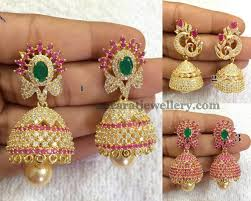 buttalu earrings 1gram gold jhumkas collection buttalu
