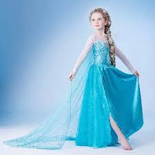 kids girls dresses disney elsa frozen dress costume princess anna
