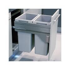 poubelle cuisine encastrable coulissante poubelle bacs 70l gris clair ilovedetails com