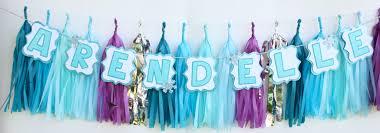 frozen themed tassel garland the banner shoppe online store