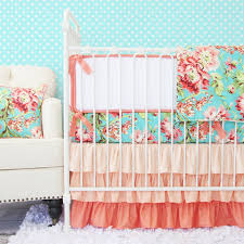 White Crib Set Bedding Coral Camila Crib Bedding Set By Caden Rosenberryrooms