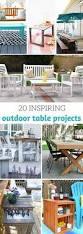 20 inspiring diy outdoor table ideas