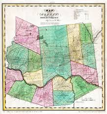 County Map New York by 1829 Large Map Of Montgomery County New York