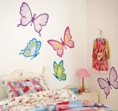 Beautiful Kids Room Wall Decor Ideas Rainbow Butterflies - Kids room wall decoration