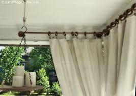 Nemesis Indoor Outdoor Curtain Rod by Outdoor Curtains Rods And Photos Madlonsbigbear Com