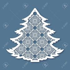 Cutting Christmas Tree - christmas tree with geometric pattern laser cutting template with