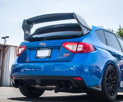 subaru wrx widebody new carbon fiber rally wing for subaru wrx sti hatchback u2013 agency
