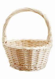 empty gift baskets wicker flower girl basket