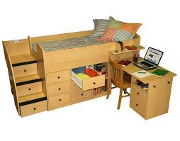 berg furniture sierra captain u0027s low loft bed with pull out desk