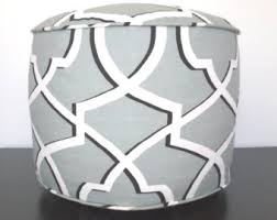 black u0026 white round floor pouf ottoman knit ottoman foot