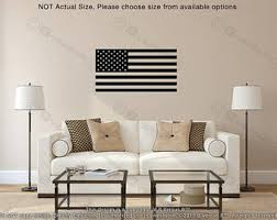 American Flag Living Room by Flag Wall Decals Etsy