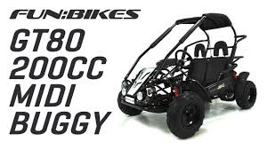 product overview funbikes gt80 200cc midi off road buggy youtube