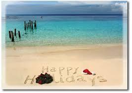 Nautical Themed Christmas Cards - tropical beach holiday christmas cards free shipping holiday