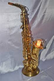 Table Lamp Malaysia Penang Antique Vintage Sky Usa Alto Saxophone Converted To Table Lamp