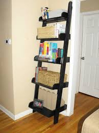 Leaning Ladder Shelf Plans Furniture Home Winsome Leaning Bookcase For Desk Leaning Wall
