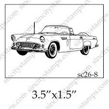 classic cars clip art classic car three quarter profile view art rubber stamp