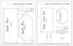 hair bow templates diy sailor bow tutorial and free pattern natalie malan