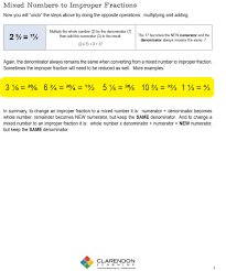 worksheets for fraction multiplication mixed numbers and improper