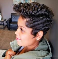 black women with 29 peice hairstyle 30 short curly hairstyles for black women herinterest com