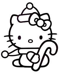 19 dessins de coloriage hello kitty noel à imprimer