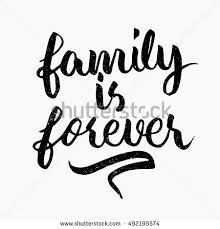 family forever quote ink lettering stock vector 492195574