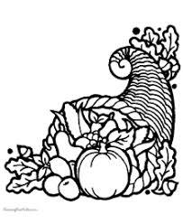 thanksgiving cornucopia coloring pages