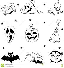 castle cat ghost hat element of halloween doodle stock vector