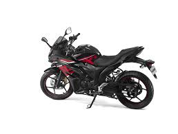 suzuki motorcycle black suzuki gixxer sf black rear three quarter indian autos blog