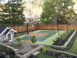 Backyard Tennis Courts Understanding The Cost Of A Backyard Basketball Court Sportprosusa